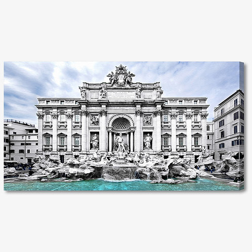 M774 - Quadro moderno Roma fontana di Trevi