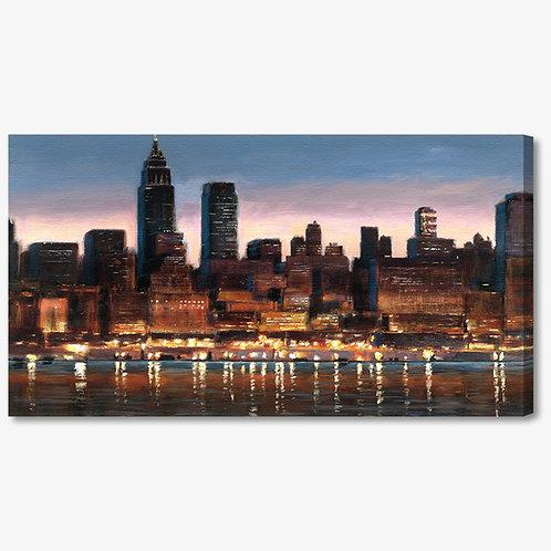 WA105 - Quadro moderno astratto NYC skyline