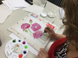 Articlate Craft Club painting on silk