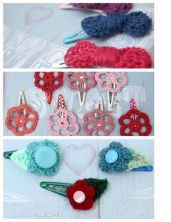 articulate flower hair clips