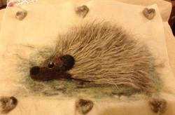Articulate workshop needle felting hedgehog