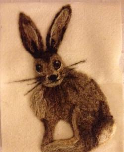 Articulate workshop needle felting hare
