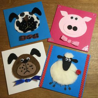 Animal Cards card making craft articulat