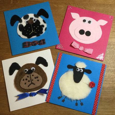 Animal Cards card making craft articulat