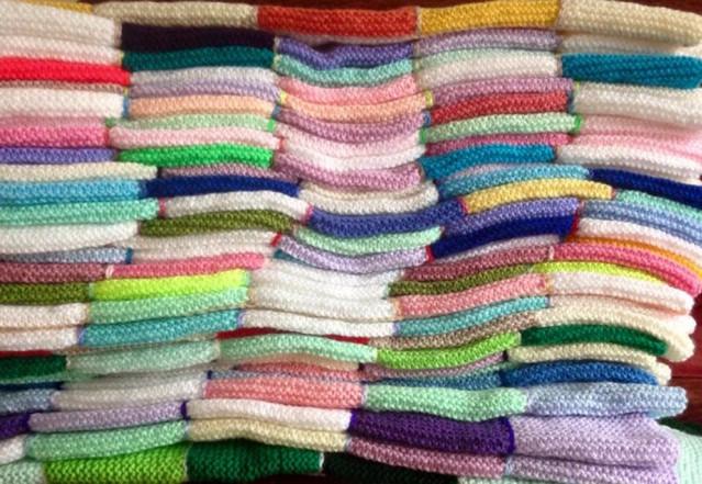 Project Linus Blanket Squares muddle pho
