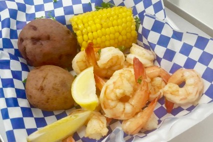 Boiled Shrimp basket
