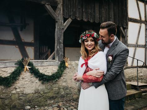 mariage alsacien en hiver