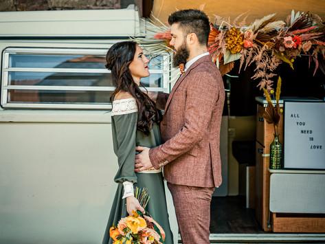 Inspiration pour un mariage hippie, coloré et hors du temps