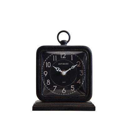 Vintage Pewter Table Clock