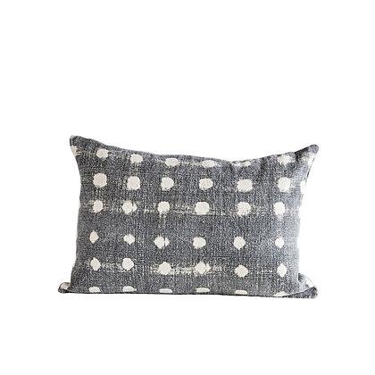 Cotton Polka Dot Throw Pillow