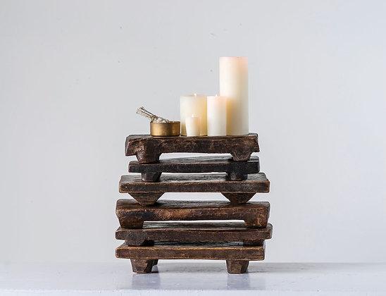 Primitive Wood pedastal