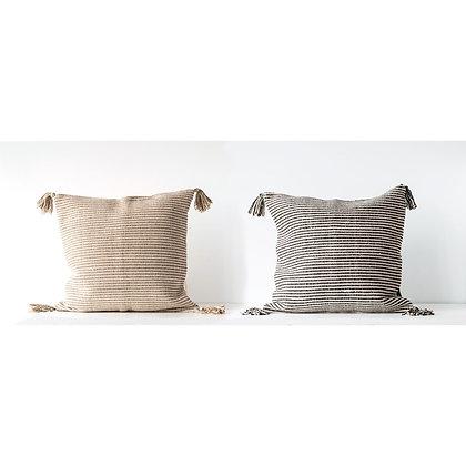 24x24 Cotton Woven Stripe Pillow