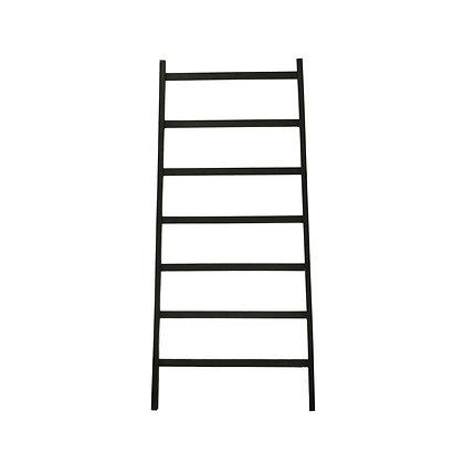 Extra Wide Decorative Blanket Ladder, Black