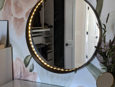 Create your own Lighted Vanity Mirror - Week 4 One Room Challenge
