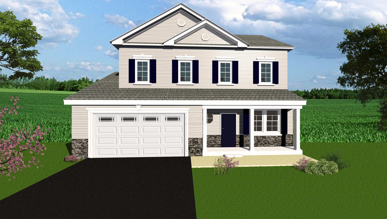 The Mason Model with Full Front Porch.jp