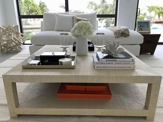 Beach House Coffee Table in Living Room