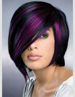 purple-highlight-on-black-hair