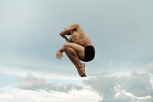 Dancer Flying Over The Sky