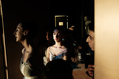 Dancers Watching On Backstage
