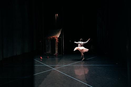 Ballerina Praticing on Stage