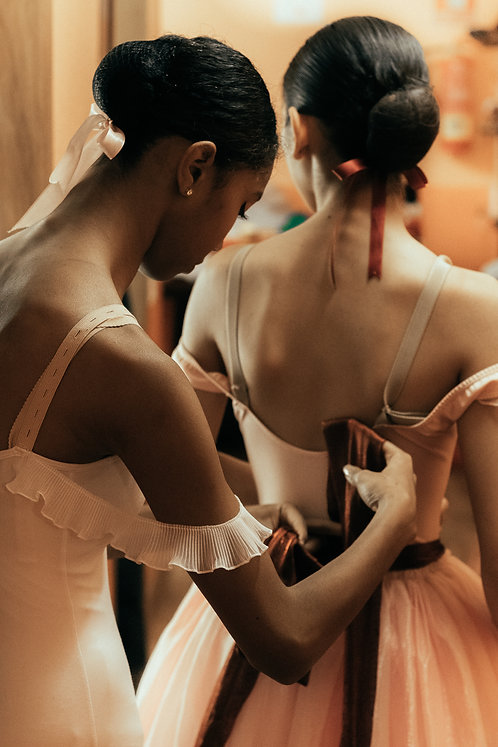 Ballerinas Dressing Up Before The Show