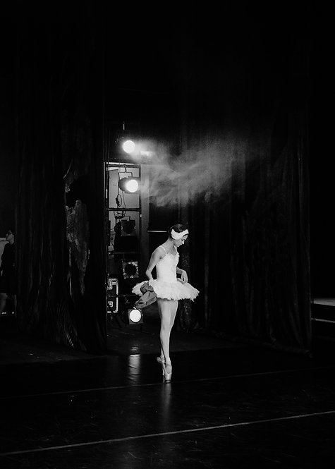 Ballerina Preparing For Rehearsal