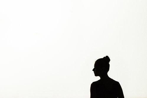 Dancer On Bright Background Stage