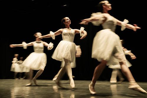 Ballerinas Spinning On Rehearsal