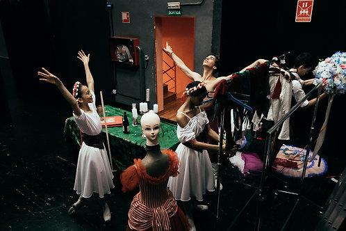 Dancers With Manequin on Backstage