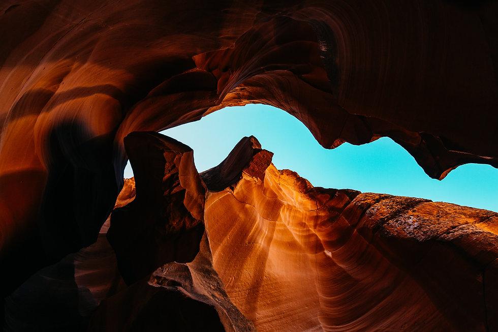 Upshot of opening in Antelope Canyon