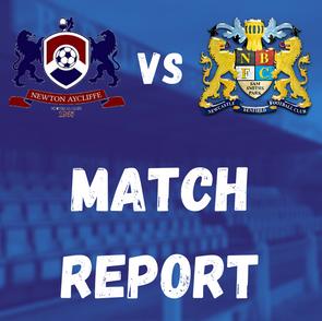 Newton Aycliffe 3-2 Lions: Match Report