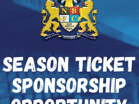 Season Ticket Sponsor Needed!