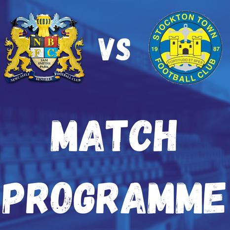 Lions v Stockton Town: Match Programme