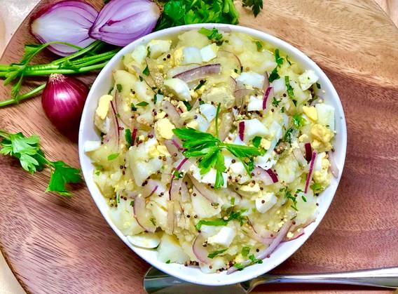 Salada rústica de batatas