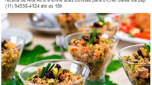 Saladinha de quinoa com minilegumes