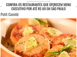 Almoço Executivo no site da revista Menu