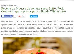 Faça a mousse de tomate seco do Whitesnake