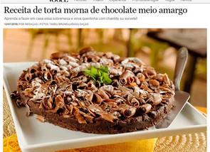 Torta de chocolate no site da Casa Vogue
