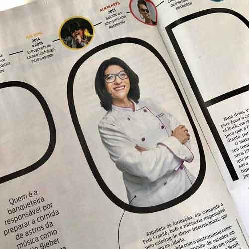 Chef Rita Atrib nas páginas da Revista São Paulo