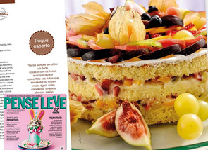Sponge cake sem glúten na revista Pense Leve