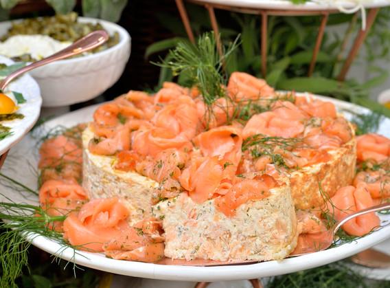 Cheesecake duo de salmons.
