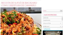 Suflê de bacalhau na revista Casa e Jardim
