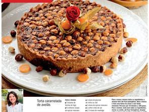 Torta caramelada de avelãs na Revista Contigo