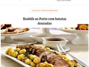 Faça em casa: Rosbife ao Porto com batatas douradas