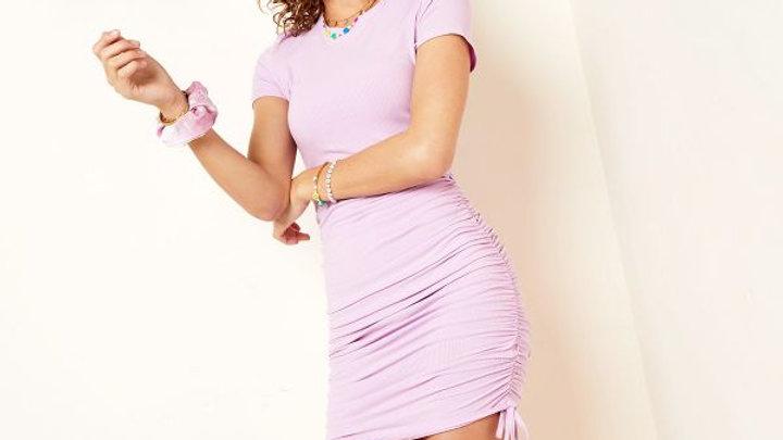 Purple string dress (2 kleuren)