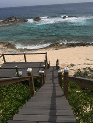 Stairs leading you to the beach