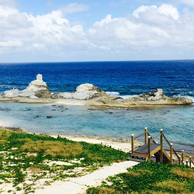 Chimney Rock and Blue Seas