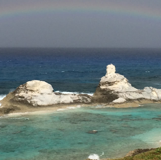 Rainbows over Chimney Rock