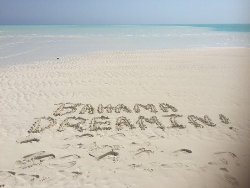 Bahama Dreamin in the sand