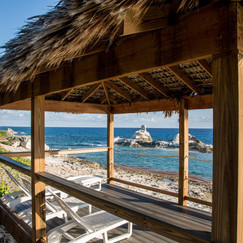 Relax in your Palapa with amazing views of Chimney Rock